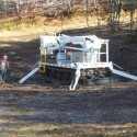 Achiever DMP-52 MH Tracked Aerial with Jib on Ski Hill doing lighting changeover